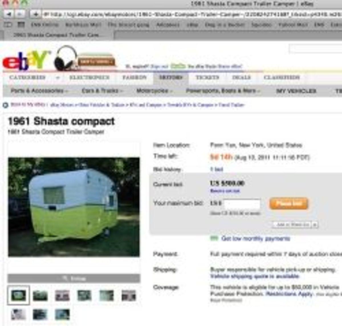 Shastas just like mine sometimes end up on Ebay, although we scored on Craigslist.