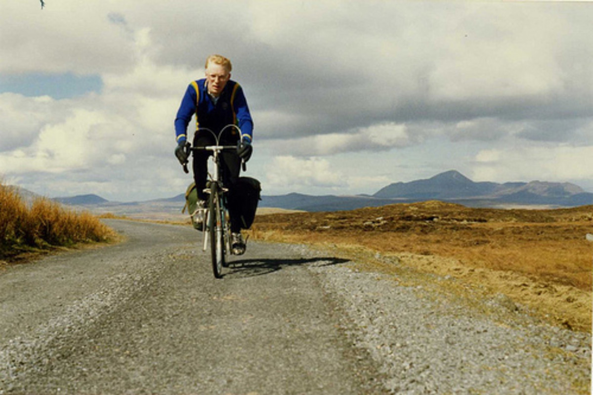 Cycling in the Mountains of County Mayo can be hard on the hands and body