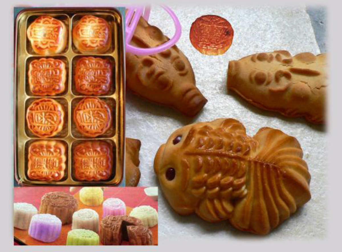 The dough is also baked into fish or piglet shapes and sold as a chewy snack.  usually packaged in small plastic baskets to symbolize fish being caught or piglets being bound for sale.