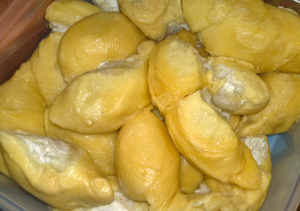 One durian unit is called an aril with the edible portion known as the pulp or flesh