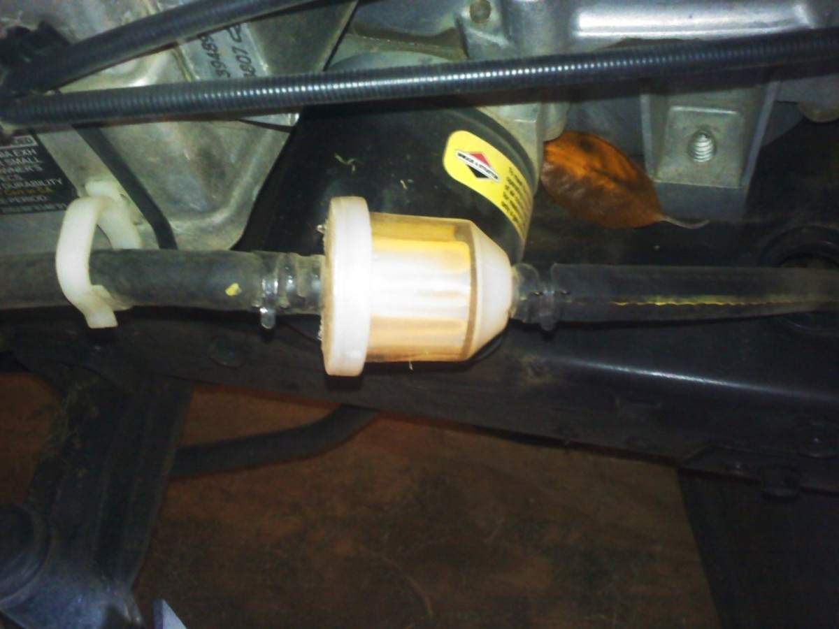 Fuel Filter on a Husqvarna Riding Mower