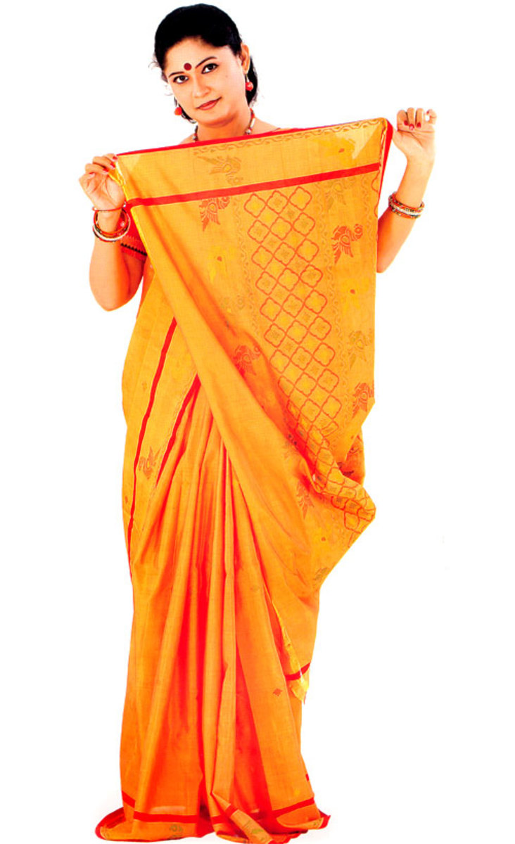 Cotton Holud Saree