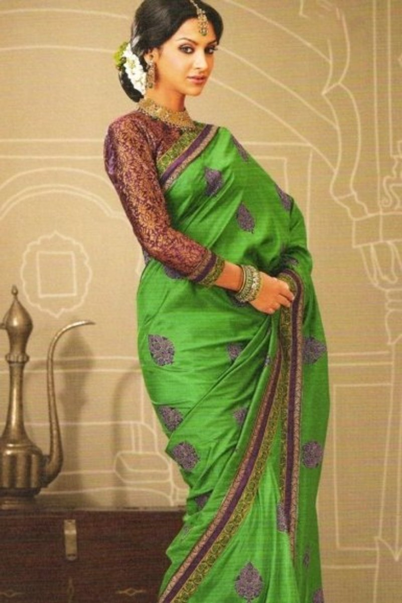 Gorgeous Cotton Silk in Green
