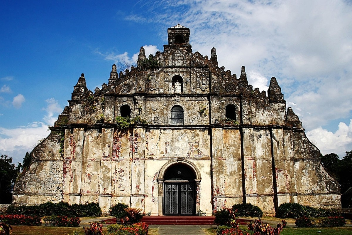 Church of San Agustin in Ilocos Norte, Philippines