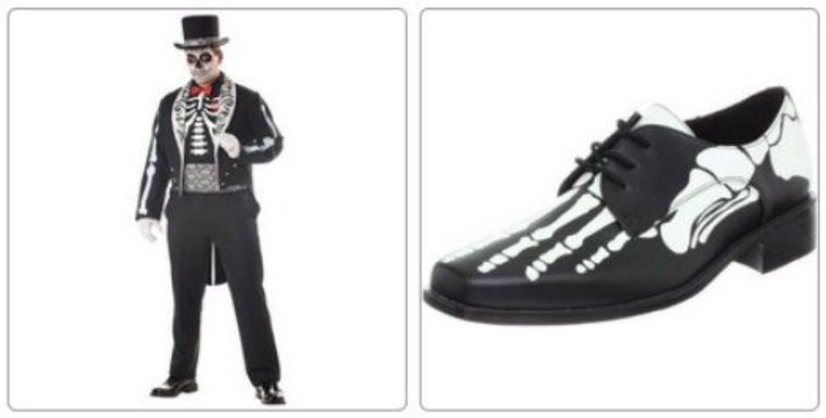 Skeleton Groom Costume and Skeleton Shoes