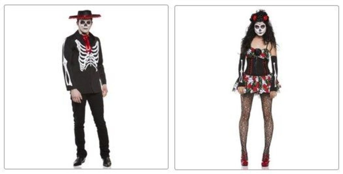 Diego and Dahlia Skeleton Costumes