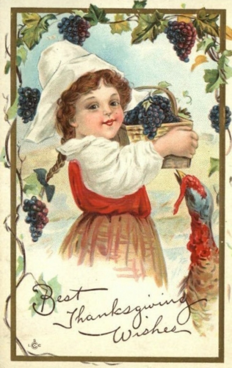 Girl with Grapes and Turkey
