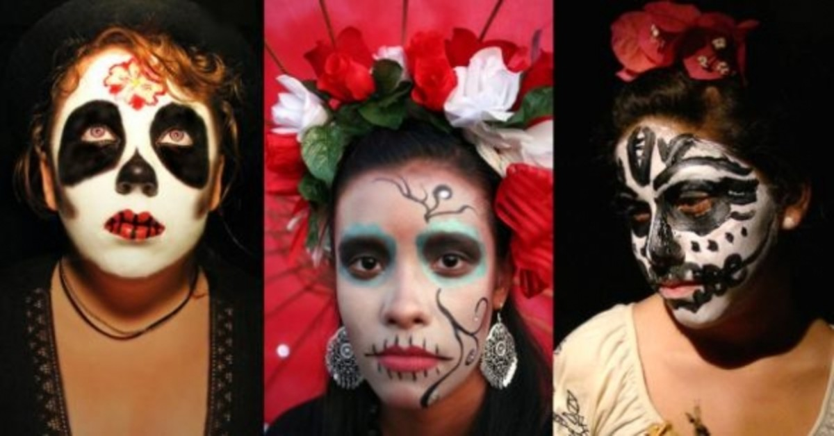 Day of the Dead Makeup Examples