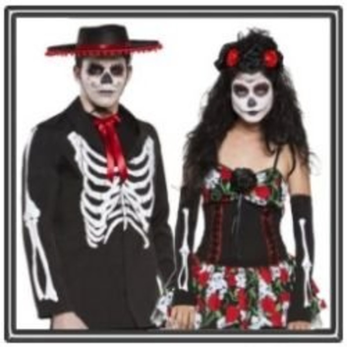 Dia de lost Muertos Couple Costume