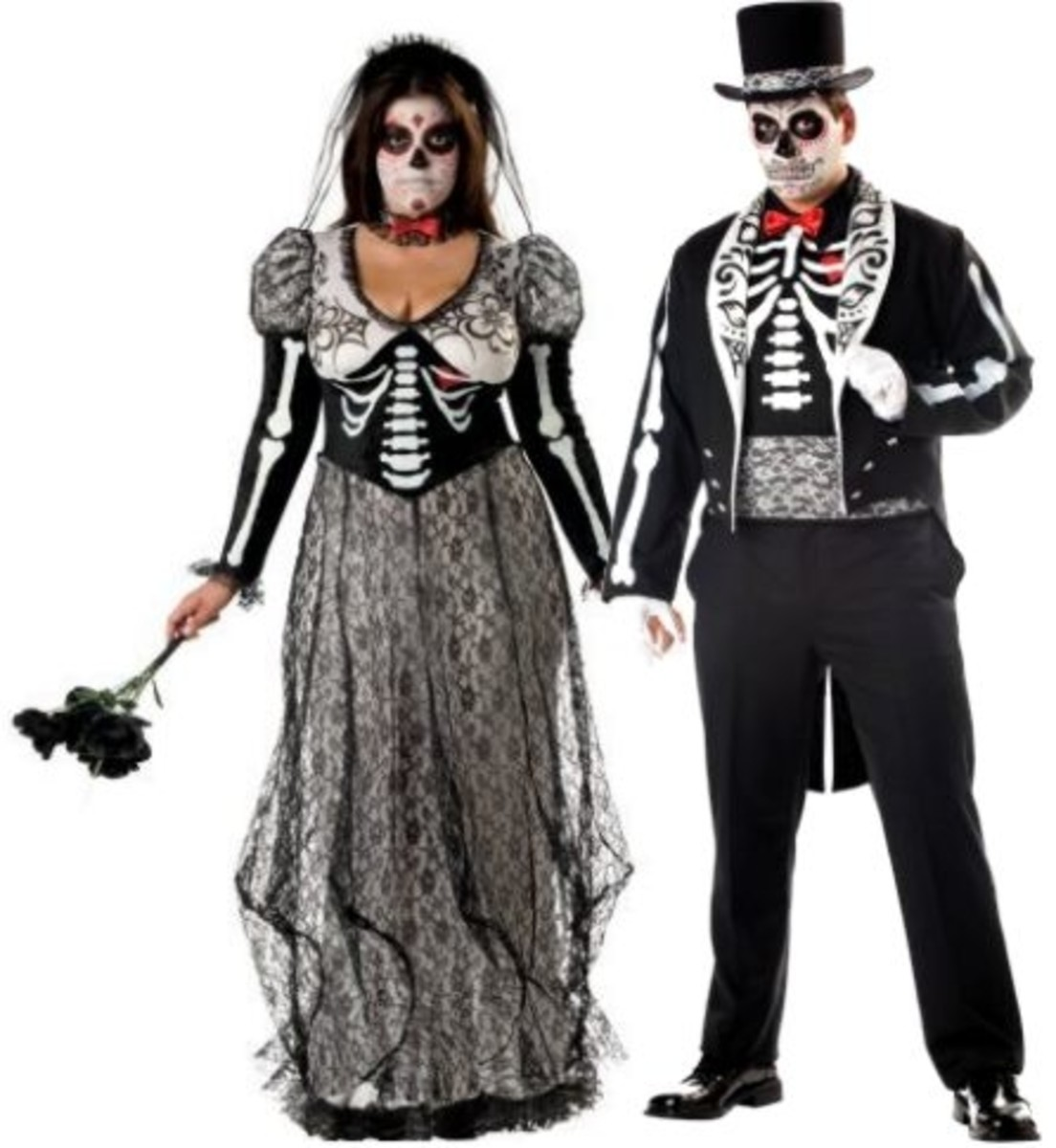 Day of the Dead Couple Costumes in Plus Sizes