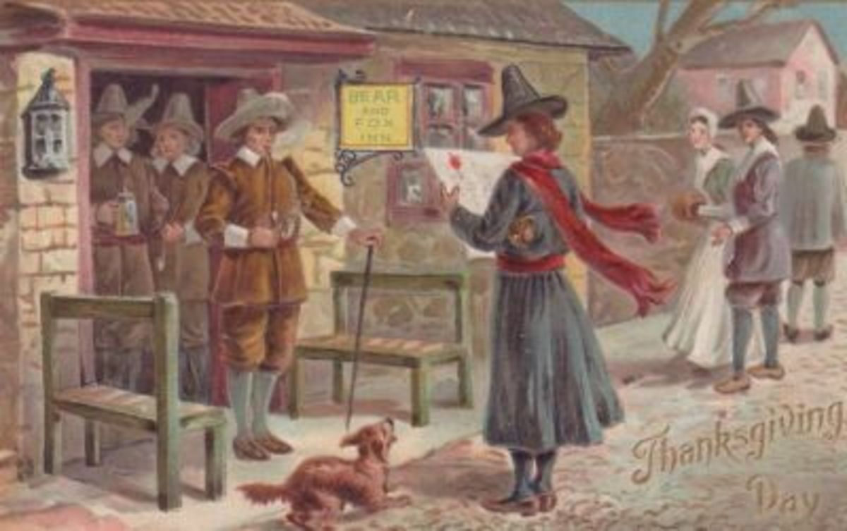 Pilgrims at Inn