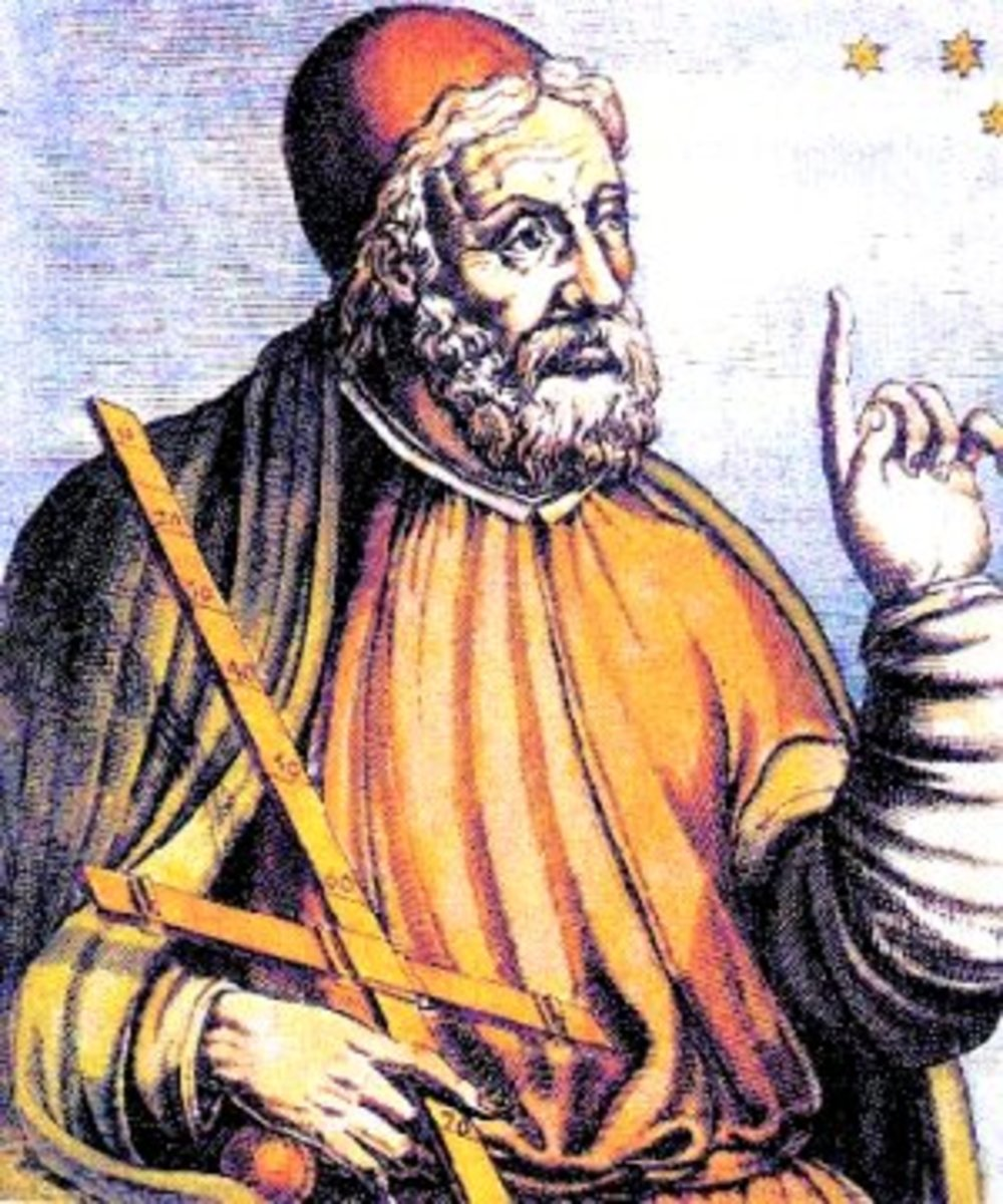 Claudius Ptolemy, as imagined by a Baroque artist.