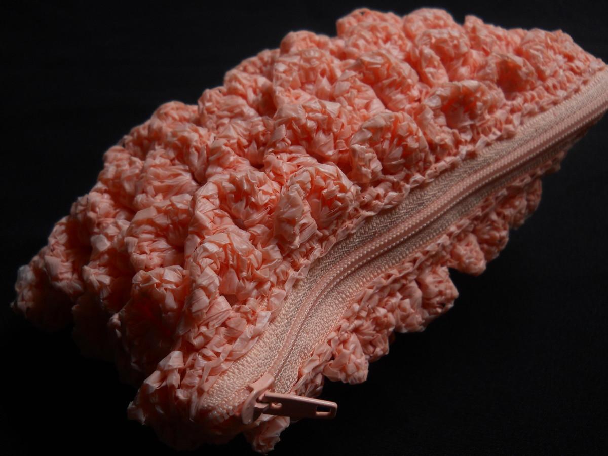 Crochet Crocodile Stitch Pouch Free Pattern
