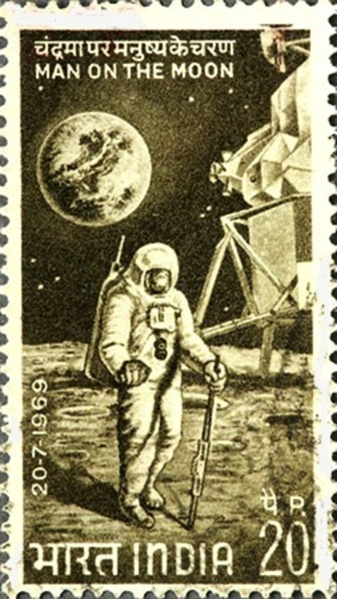 Indian Postage Stamp on Apollo 11