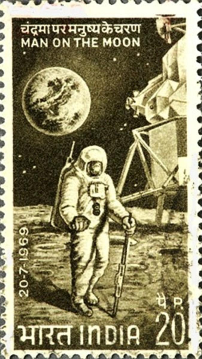 Indian Postage Stamp on Apollo 11