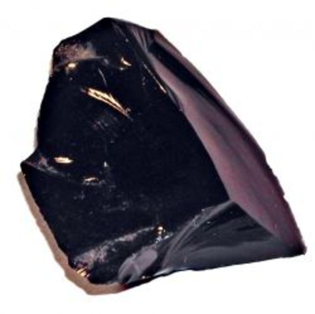 Public Domain Image, via WikiMedia Commons Obsidian_Core_Flintknapping