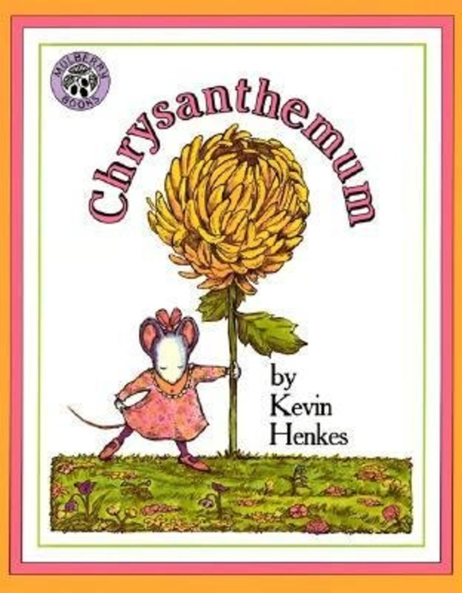 Chrysanthemum by Kevin Henkes is about a young student who is teased about her long and unique name.