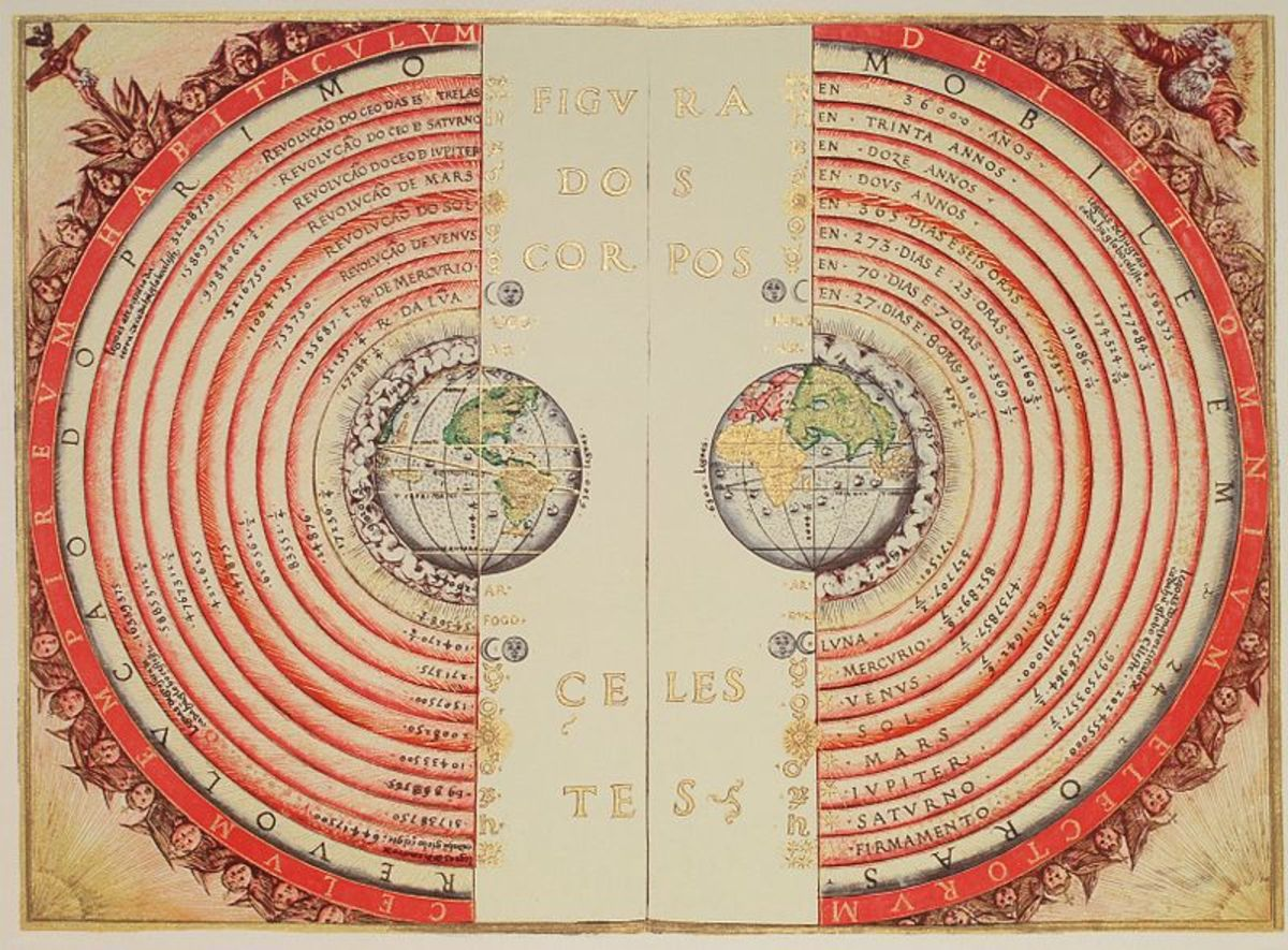 Ptolemy's geocentric theory, the Ptolemaic model.