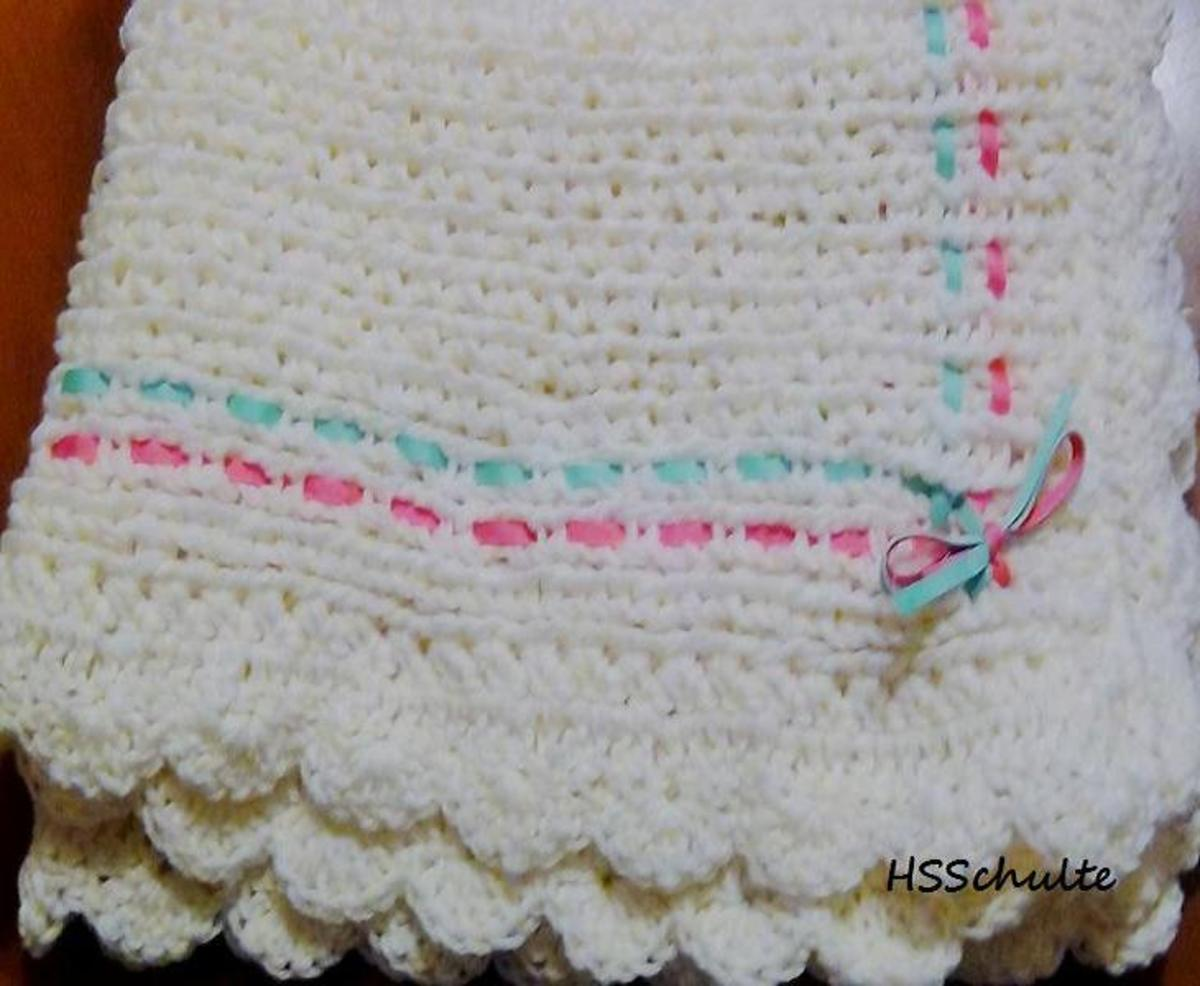 Baby Receiving Blanket Pattern for the Knifty Knitter Blue Long Loom