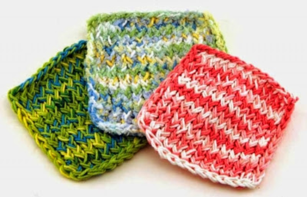 Baby Wash Cloth Pattern for the Knifty Knitter Blue Round Loom