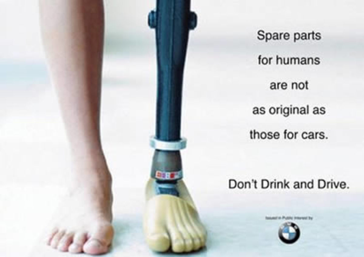 Don't drink and drive BMW campaign