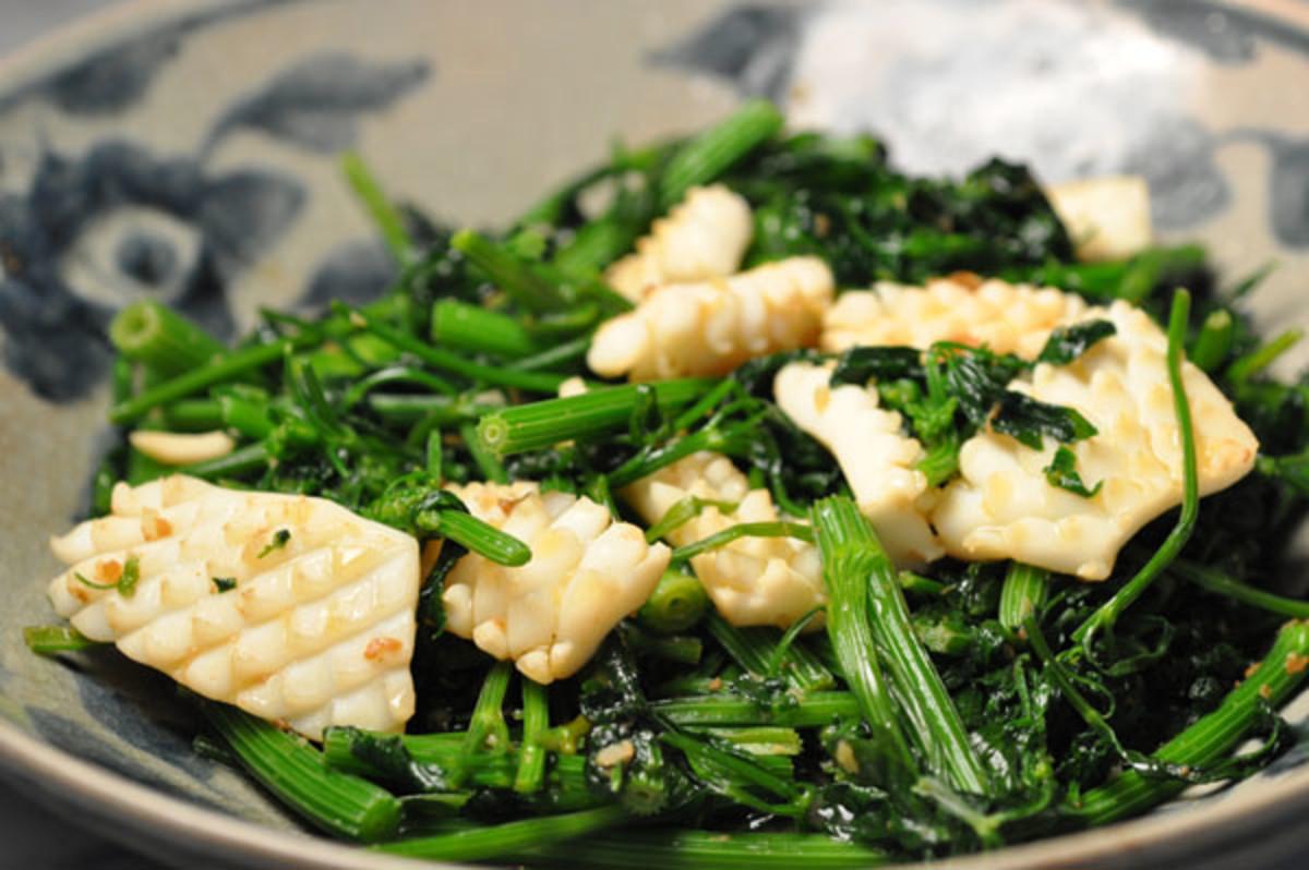 Stir-fried squid with Asian celery Image: © Siu Ling Hui