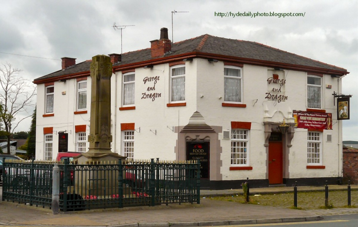 The George & Dragon public house, Hyde, Cheshire... one of thousands around England named after the adopted patron saint.