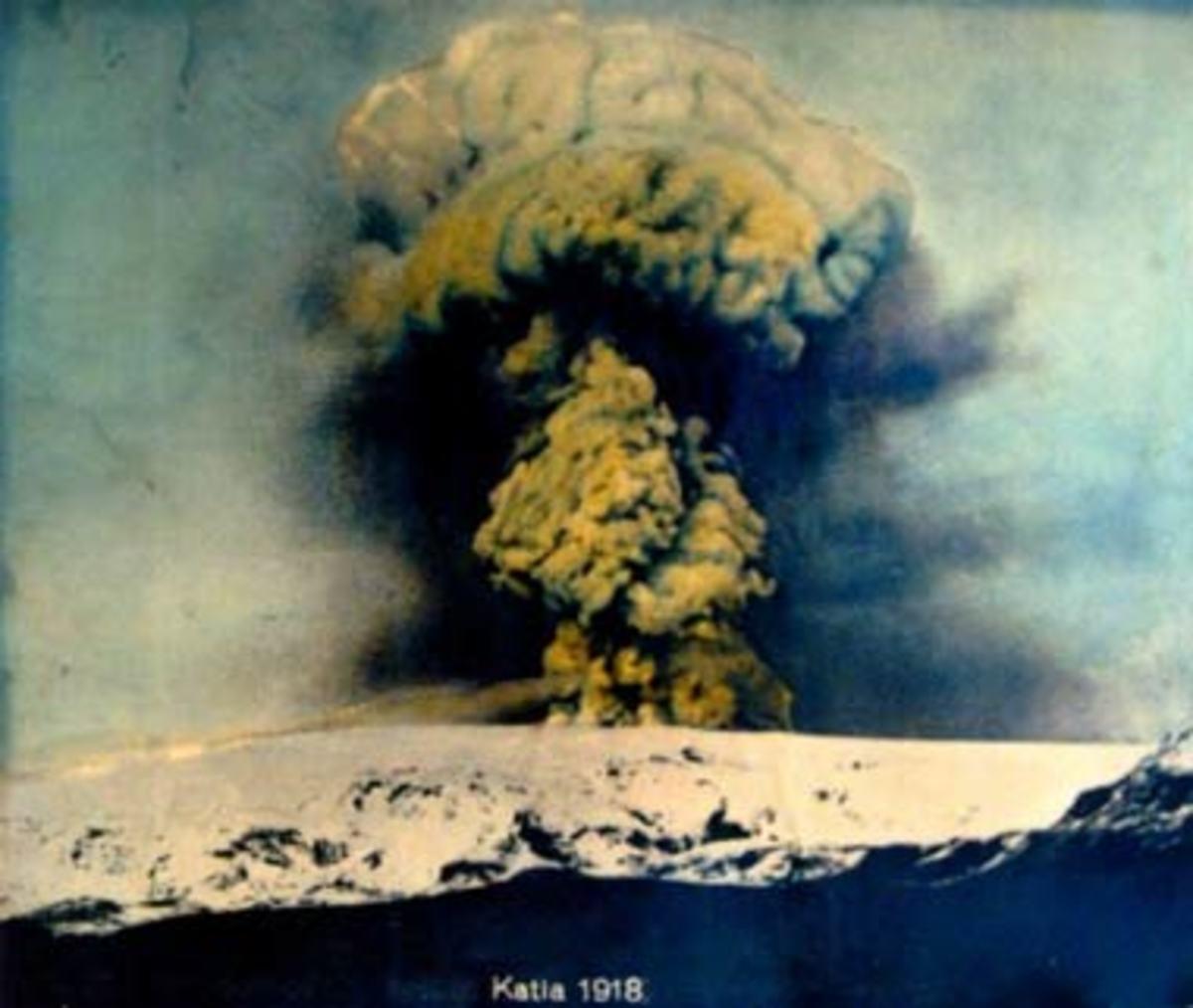 Last eruption of Katla Volcano in 1918.