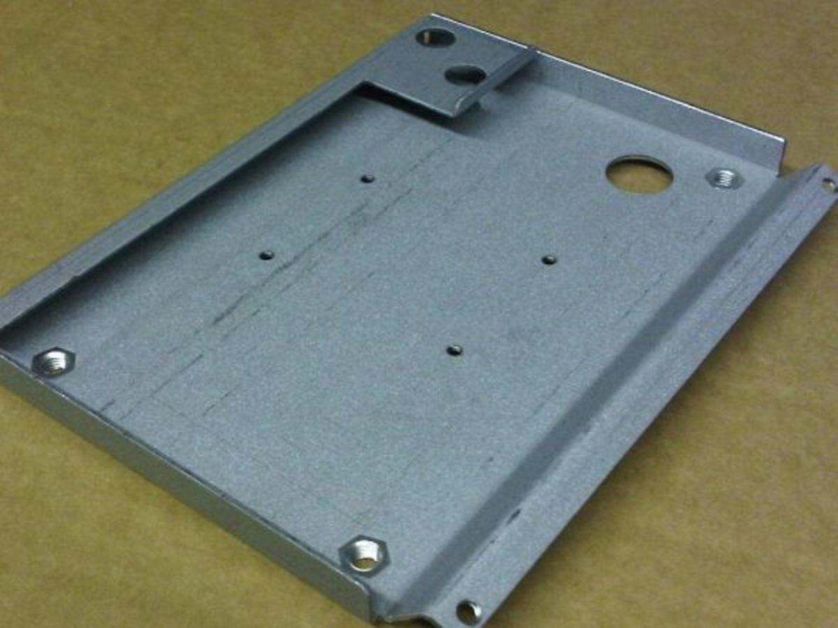 Sheet metal CNC bending, Zintec coated mild steel bracket