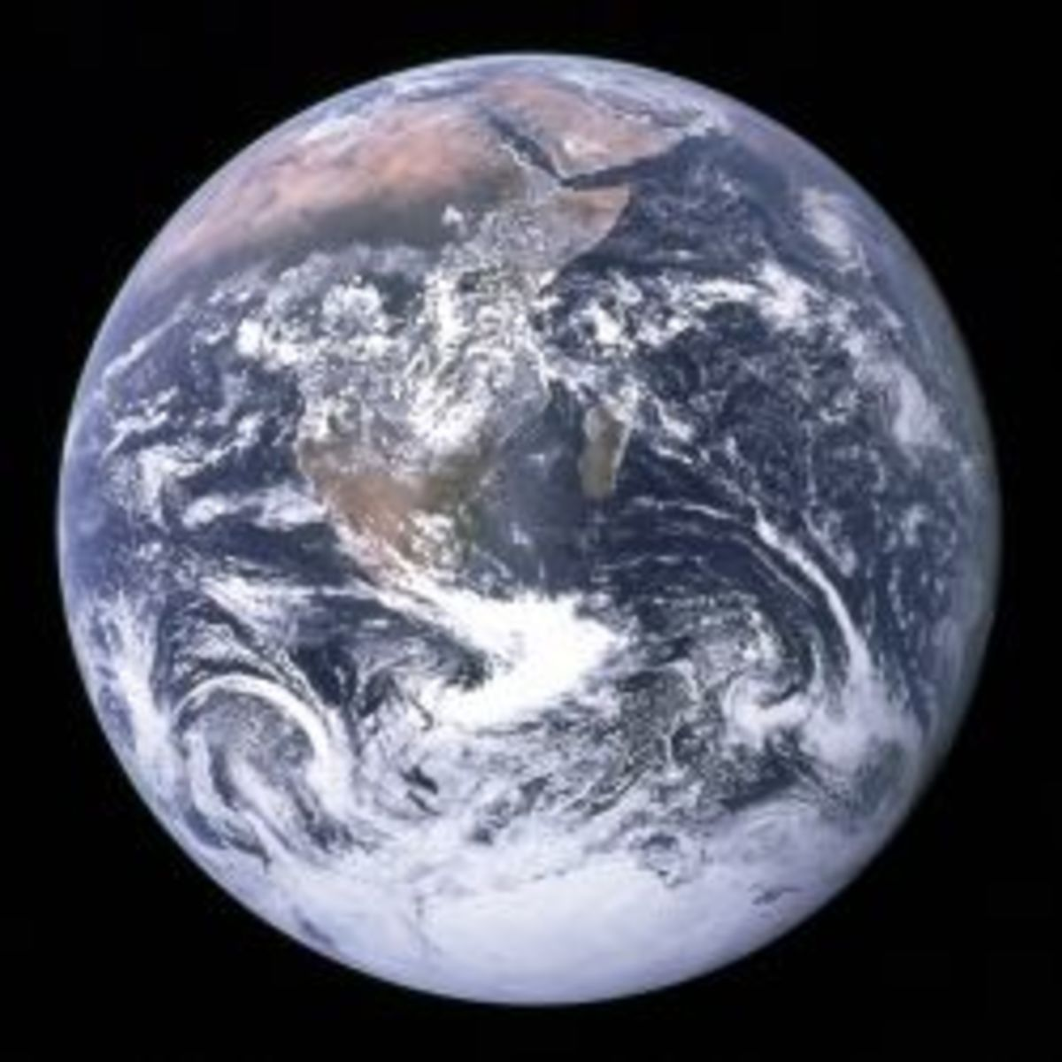 The Earth as seen from the Apollo 17 spacecraft.