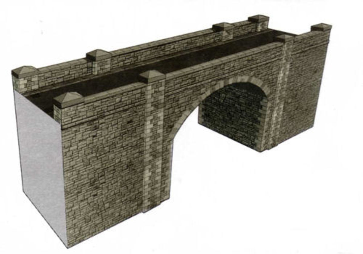 This Superquick kit closely resembles a stone structure (very well printed!) and would be ideal for a rural or even city layout.