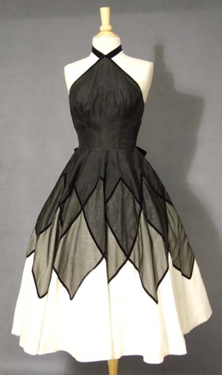 Vintage Halloween Costume Cocktail Dress