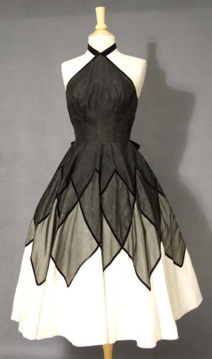 Vintage Halloween Costume Cocktail Dress
