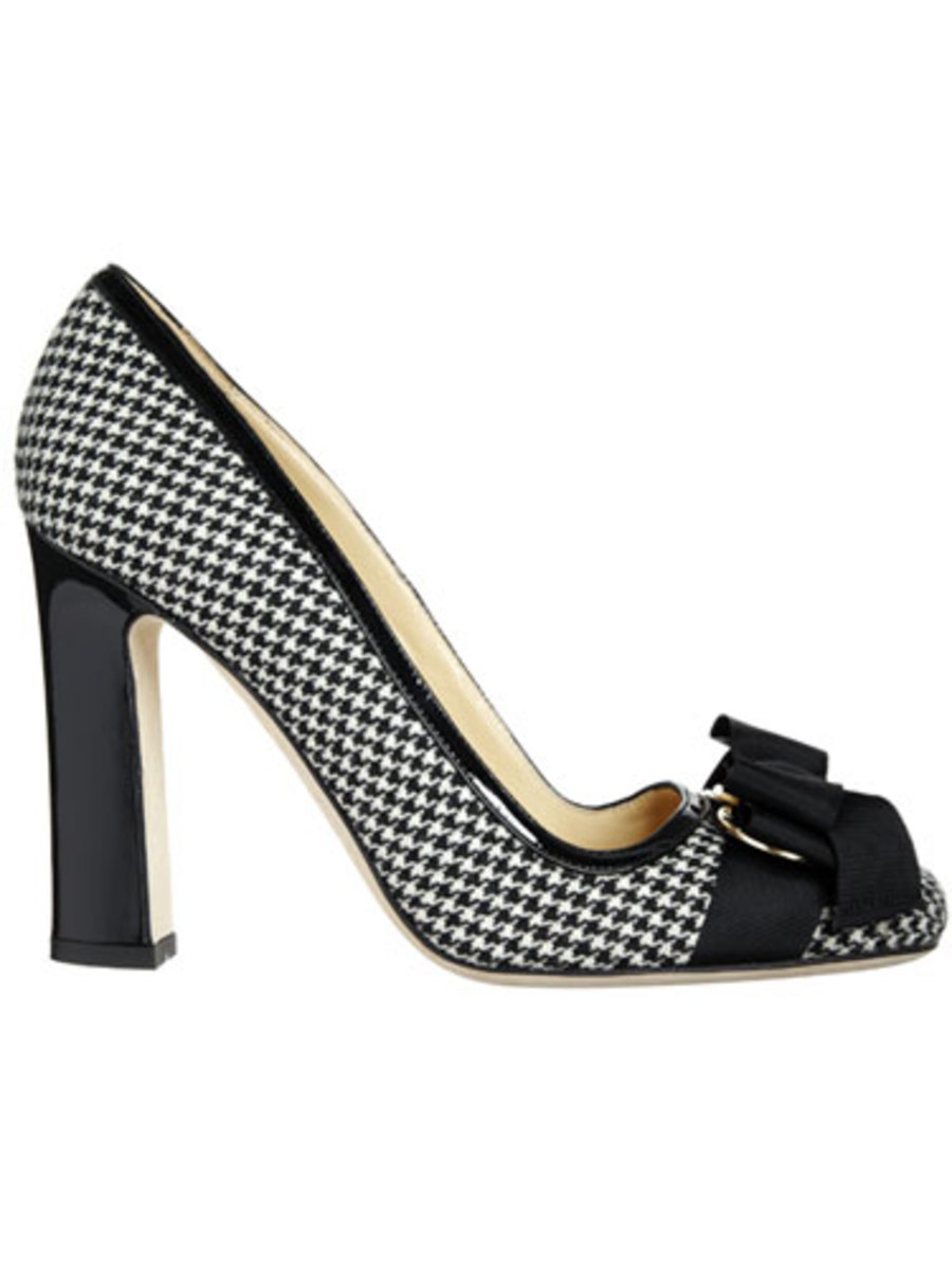 This beautiful black and white shoe would have matched my Mother's expensive wool coat perfectly.