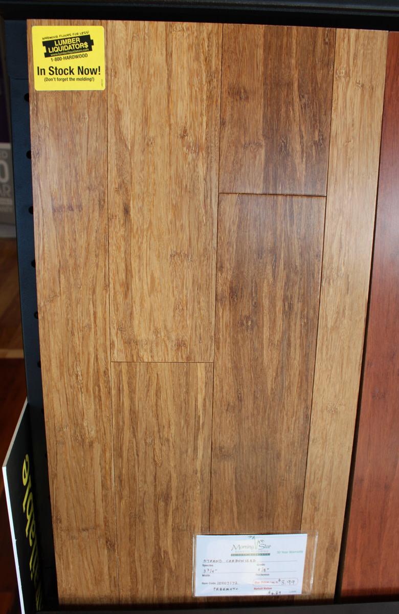 Solid strand bamboo flooring
