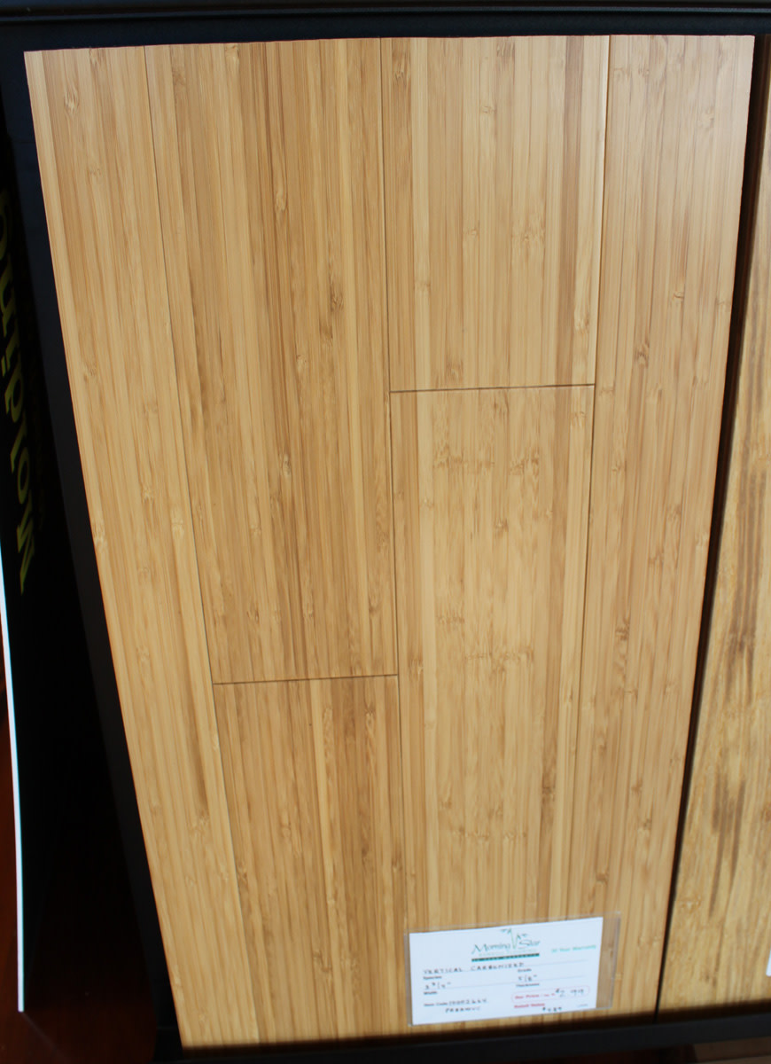 Vertical solid bamboo flooring