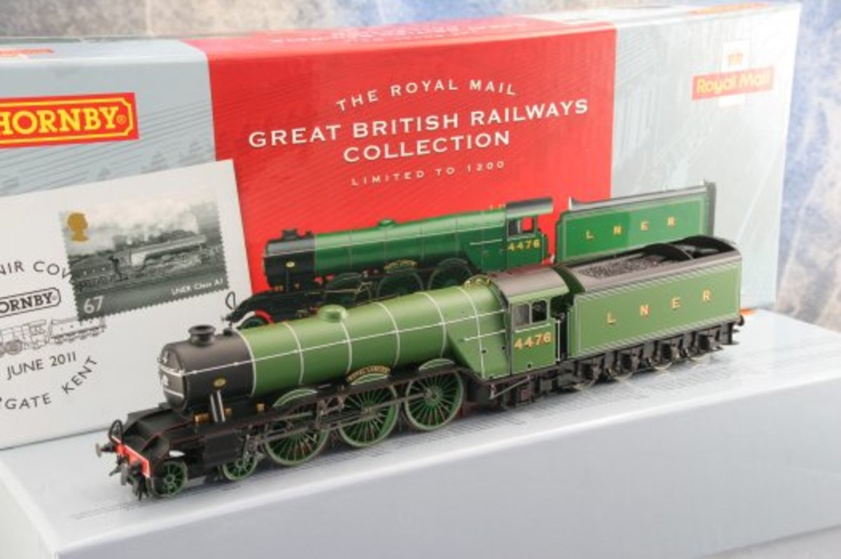 LNER A1 (originally built 1922-23), 4478 'Royal Lancer' in Doncaster green, limited edition. I wouldn't weather or mess with this one. It's worth keeping the paperwork, box and rest of contents pristine because it'll be worth a 'packet' one day!