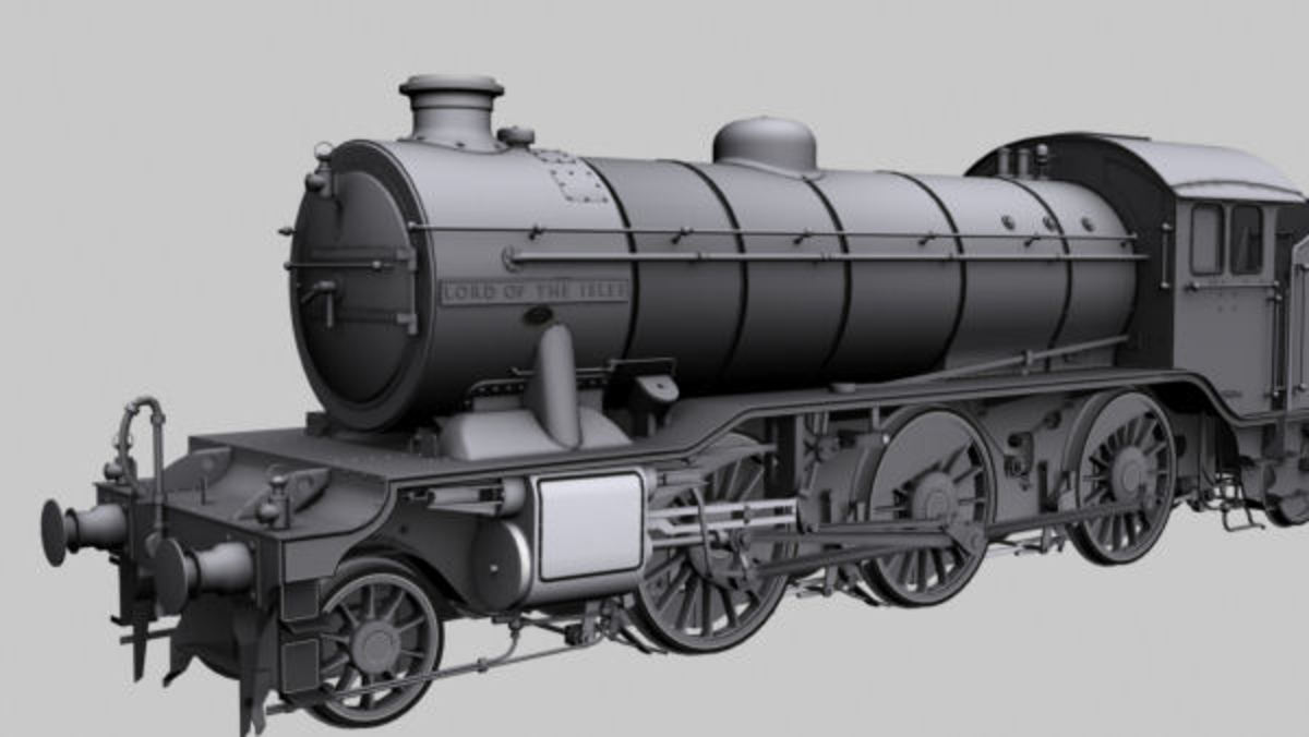 Virtual version of model for K4 'Kord of the Isles', No.3444 - these engines ran with the fish trains from the Kyle of Lochalsh (opposite Skye) to Glasgow