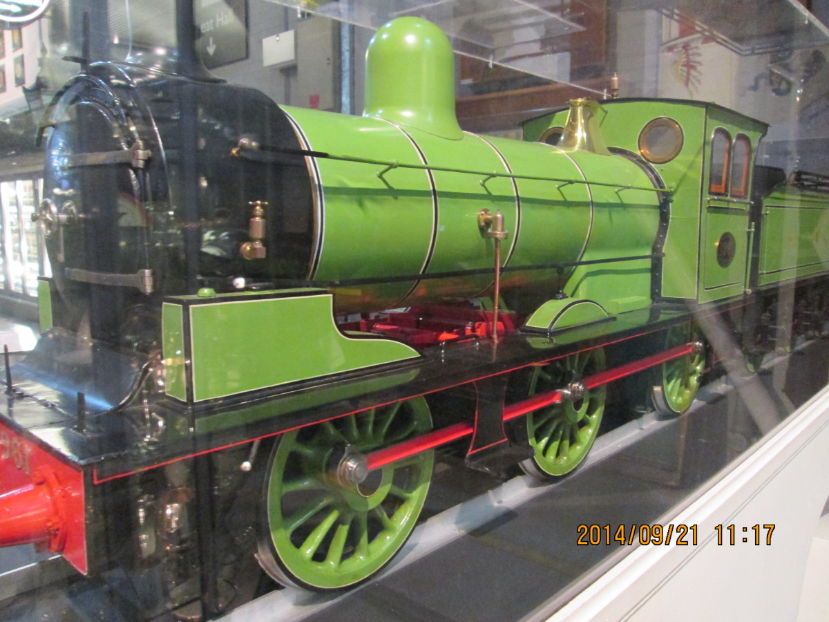 This is a model, believe it or not. When you're in the National Railway Museum next time look in at the back of the workshop for all the treasures there's no room to display - the reflection on the case should be a giveaway