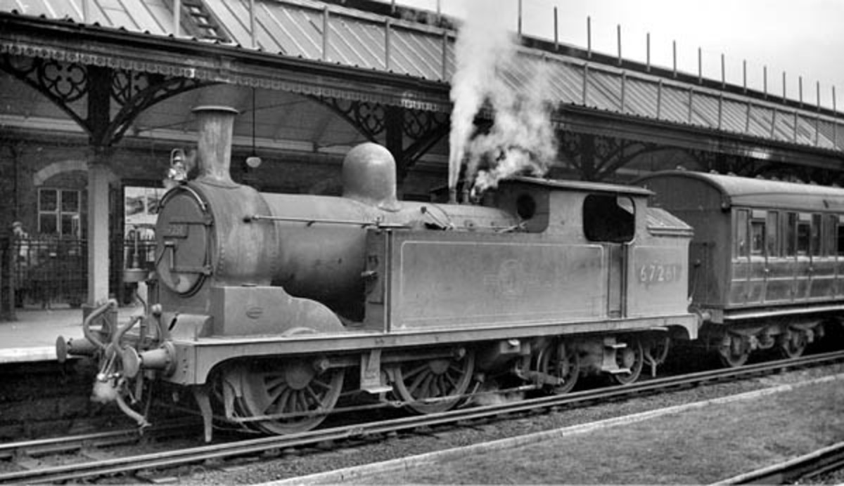 Class G5 67261 with push-pull equipment (see far side of smokebox door) at Newcastle-upon-Tyne