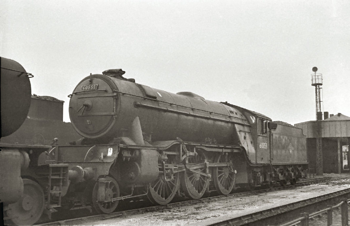 V2 60859 at 51L Thornaby shed, 1963, visiting from 52A Gateshead (Thornaby closed to steam 1964)