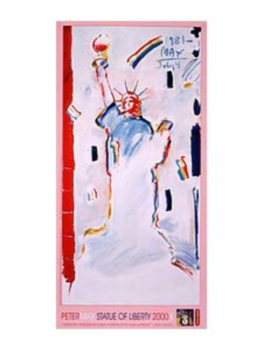 STATUE OF LIBERTY POSTER by PETER MAX