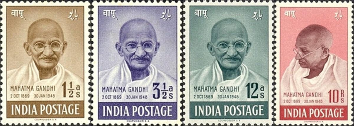 First Mahatma Gandhi Stamps India 1948