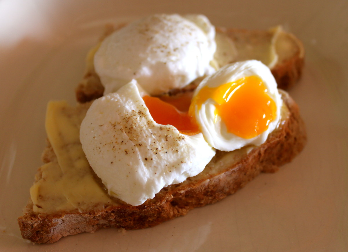Poached eggs on Brown Soda Bread
