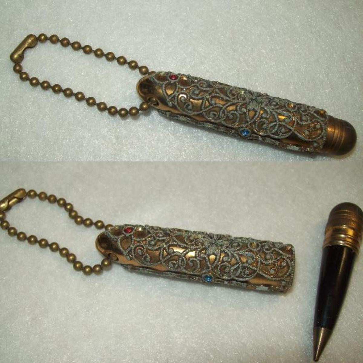 Bejeweled pen key-chain.