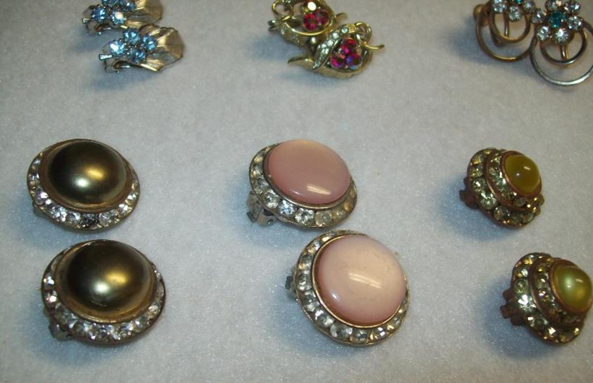 A few button earrings.