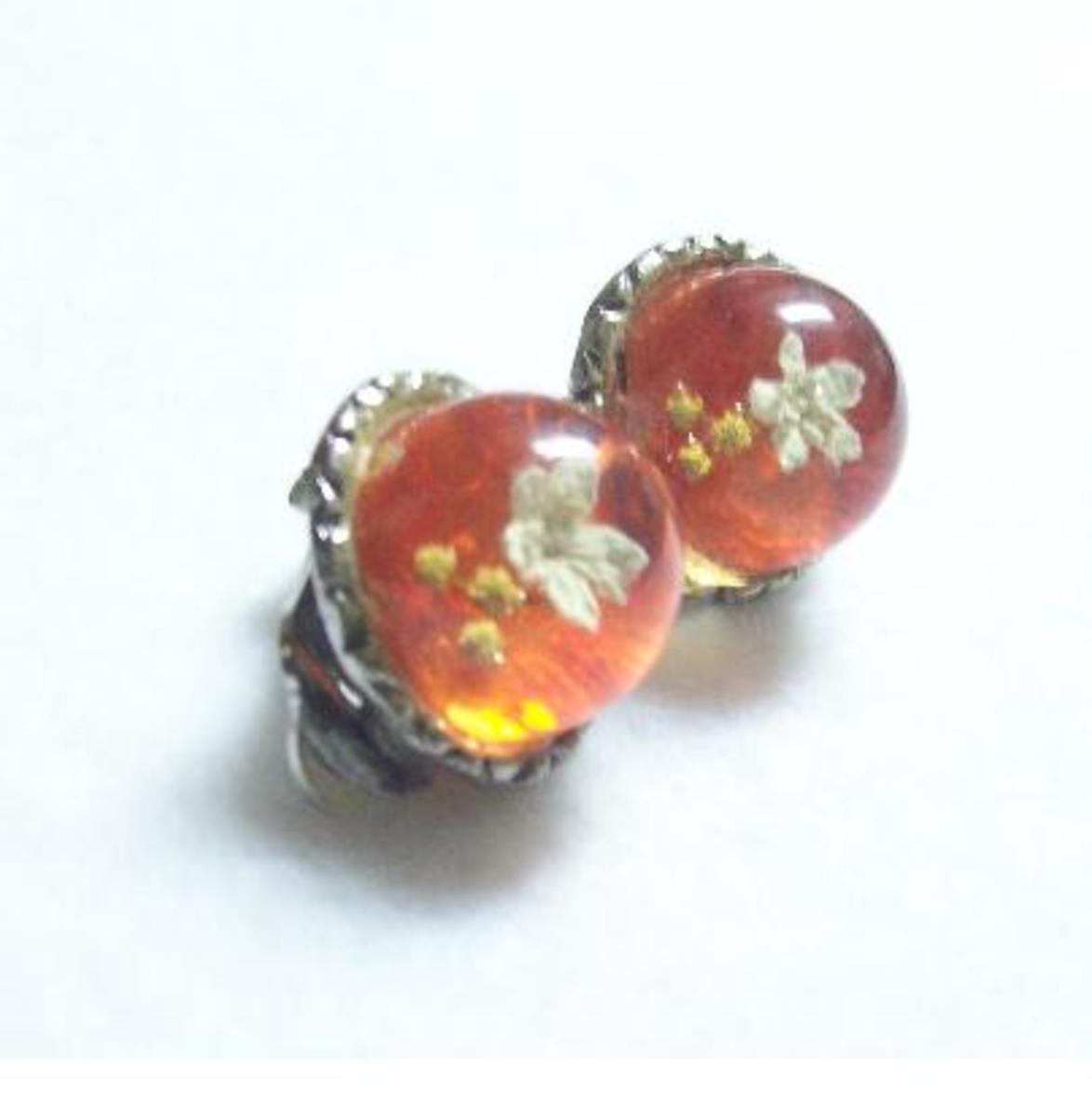 Cute Lucite earrings.
