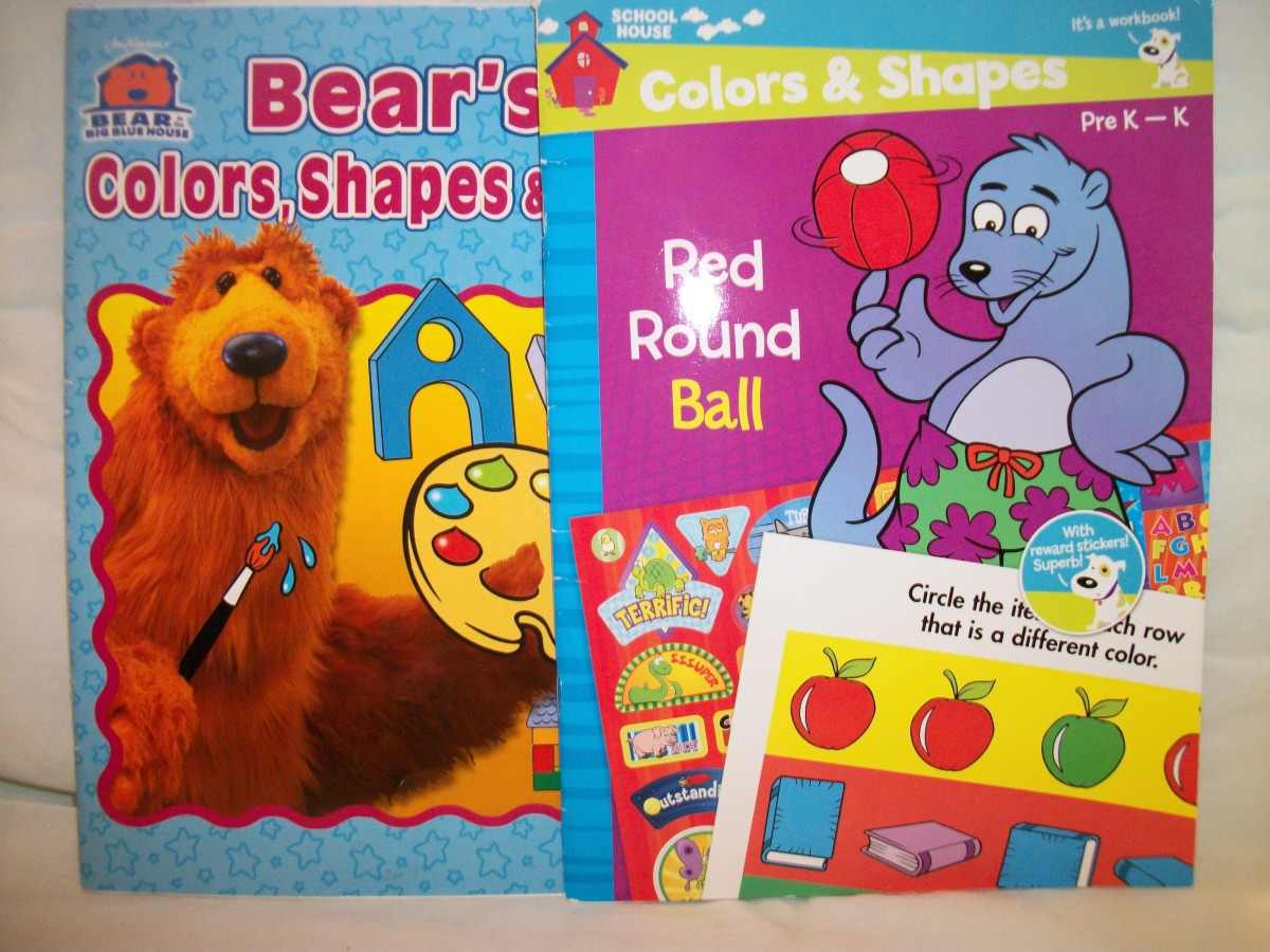 Children's Activity Books for Shapes