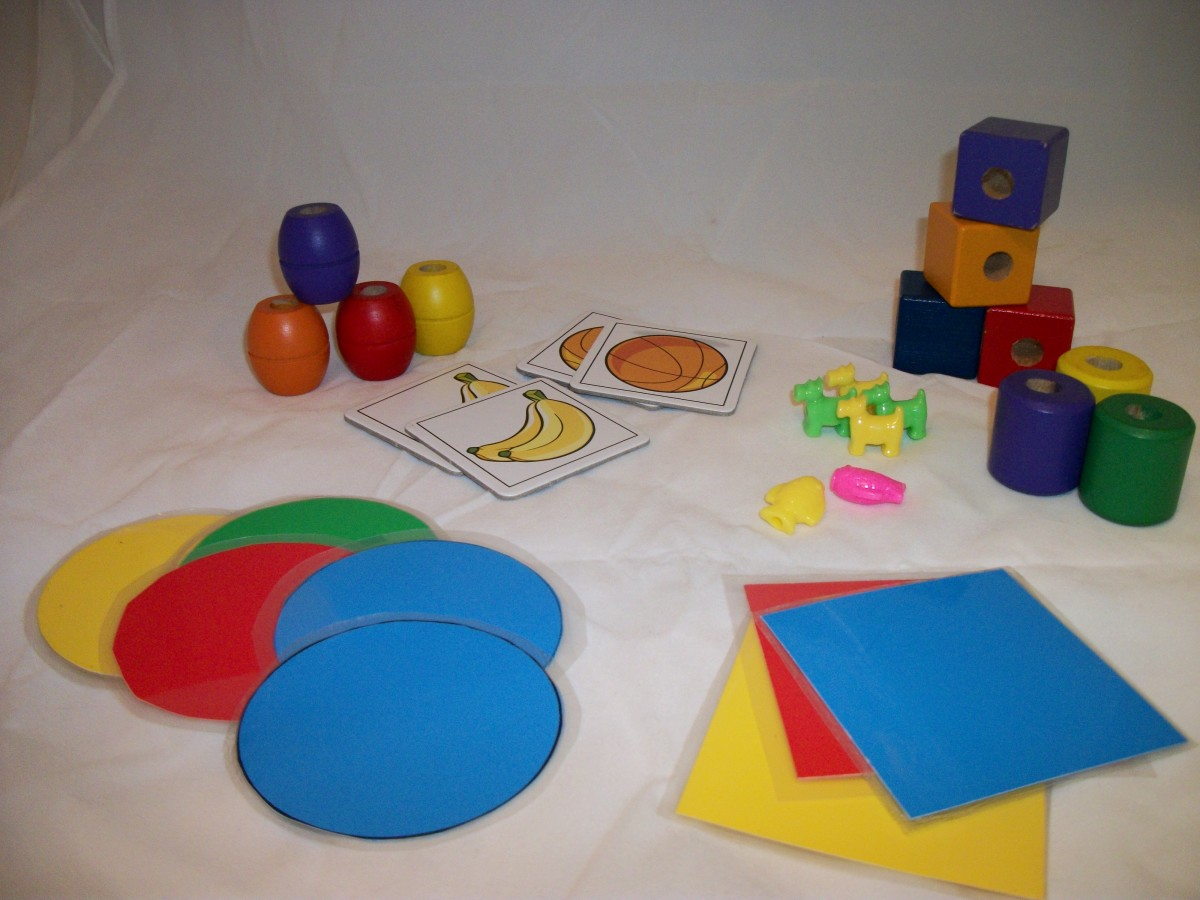 Activities for Young Children- Sorting by Shape and Other Attributes