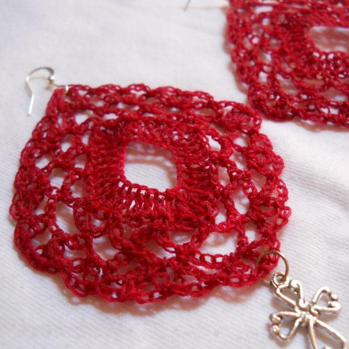Crochet Diamond Earrings #5